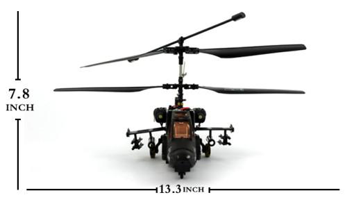 "17.7"" 3CH Black Air Shark KA-50 Gyro Helictoper GREY"