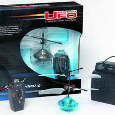 RC Flying UFO Saucer w/ Lights  (Blue)