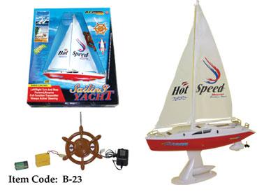 "15"" Dual Motors Radio Control Sailing Yacht B23"