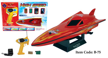 "12"" Mini EP777 Racing Boat B75 Red"