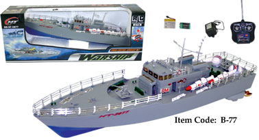 "19.5"" Highly Detailed Model Radio Control Warship Boat  B77"