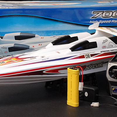"28"" Blue Streak Marine High Performance RC Electric EP Racing Speed Boat B08"