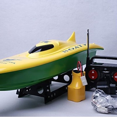"23"" Balaenoptera Musculus Racing Boat B18 Green Yellow"