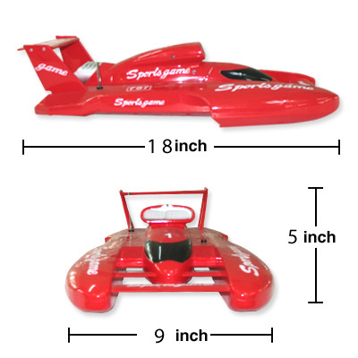 "17.5"" Small Hydro Off-Shore RC Mosquito Craft Racing Boat Red B57"
