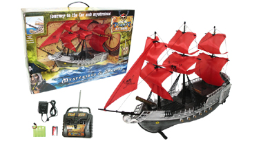 "17"" Remote Control Pirate Boat White"