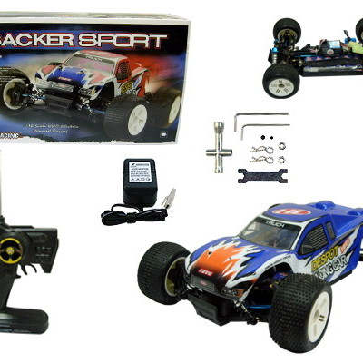 1:18 RC Electric 4X4 Sacker Sport Truggy RED