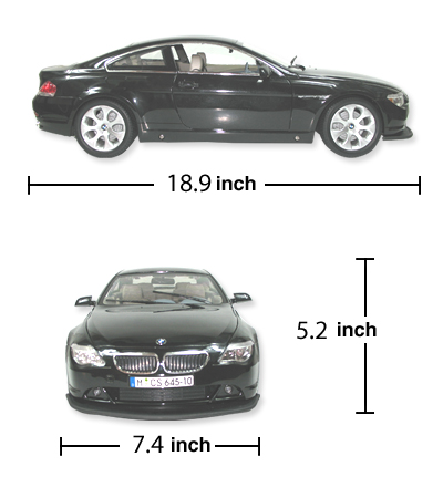 1:10 BMW 645CI High Performance RC Car BLACK 1