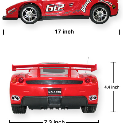 "17"" Ferrari Enzo Four Wheel Drive Racing Car 1:10 (Silver)"