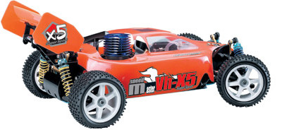 RC 35-45mph Nitro Buggy Engine 0.18 w/ 2 Gears GCX5 ORANGE