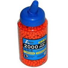 2000 6mm Airsoft BB Pellet in Speed Loader Bottle  BB2K