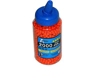 2000 6mm Airsoft BB Pellet in Speed Loader Bottle  BB2K