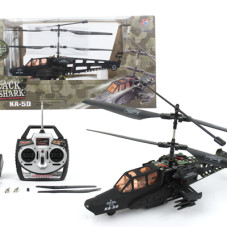 17 7″ 3 CH Hughes Defender RC Military Helicopter RTF w/ LED Night