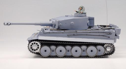 "21.5"" 11/16 German Tiger Air Soft RC Battle Smoke & Sound Tank (Metal Gear & Track Upgraded) HLMS"