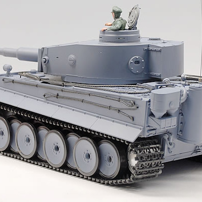 "21.5"" 11/16 German Tiger Air Soft RC Battle Smoke & Sound Tank (Metal Gear & Track Upgraded) HLMS"