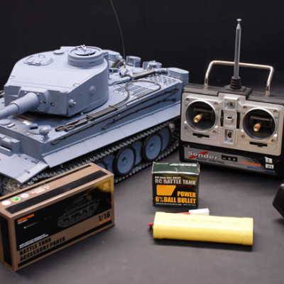 1/16 German Tiger Air Soft RC Battle Tank (Metal Gear & Track Upgraded)
