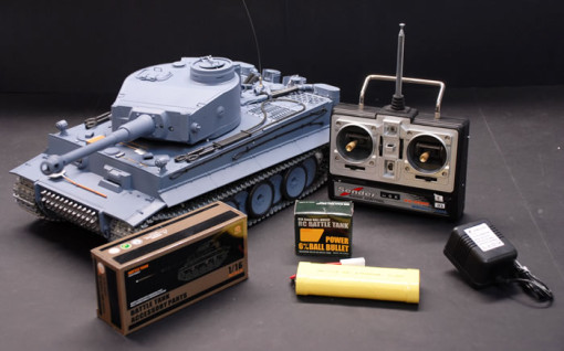 1/16 German Tiger Air Soft RC Battle Tank (Metal Gear & Track Upgraded)  1