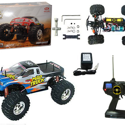 "17"" 1:10 RC Electric 4WD Mad Truck MT12 Blue"