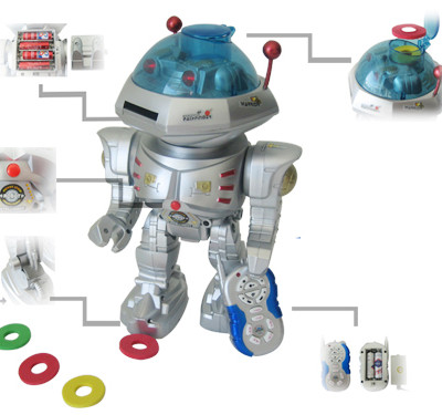 RC Dancing Robot w/ R/C Missile Disc Launcher
