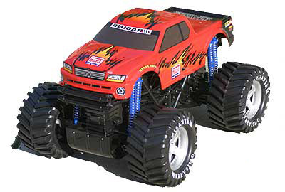 "14.5"" Titan Monster Demolition Derby Truck RED"