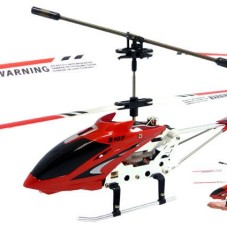"""8.7"""" Mini 3CH S107G Metal Helicopter w/ Gyro Red"""