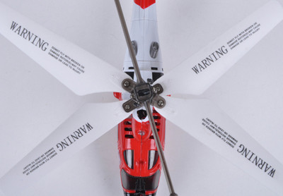 Syma S111G 3CH RC Indoor Mini MH-68A Hitron U.S Coast Guard Helicopter w/Gyro (Red)
