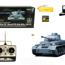 1/16 Scale PzKpfw.IV Ausf.F2.Sd.Kfz Battle Tank TA59 Gray