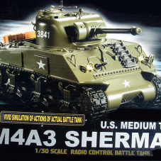 M4A3 Sherman 1/30 Scale RC Battle Tank RTR