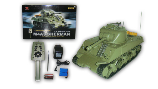 M4A3 Sherman 1/30 Scale RC Battle Tank RTR  1