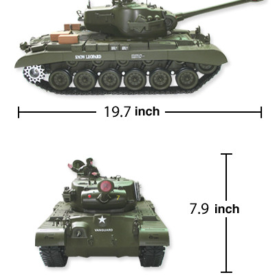 WWII US Army Snow Leopard M26 Pershing Radio Control Tank w/ Smoke & Sound