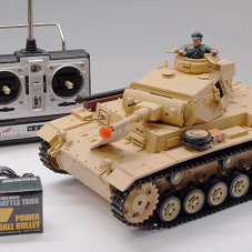 1/16 Scale TauchPanzer III Real RC Battle Tank