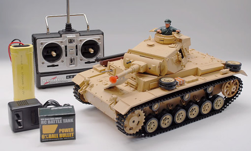 1/16 Scale TauchPanzer III Real RC Smoking Battle Tank w/ Sound  1