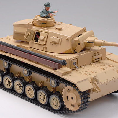 1/16 Scale TauchPanzer III Real RC Smoking Battle Tank w/ Sound